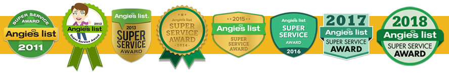 Angies List Super Service Award 2018 for Midwest Heating and Cooling
